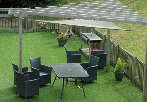 Our outdoor seating area for our socialites